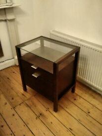 Dark Brown Wood Filing Cabinet Crate and Barrel