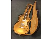 Gold Top Gibson Les Paul Replica Guitar and Hard Case