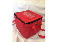INSULATED HOT FOOD DELIVERY BAG -FOR INDIAN OR CHINESE TAKEAWAY SIZE 30*27*27CM AVAILABLE ON EBAY UK