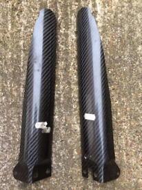 Carbon fiber fork guards