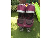 City Mini Double Buggy pram pushchair with raincover