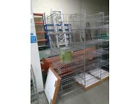 5 Metal Baskets and Base Stackable Fixtures Fittings Retail Display