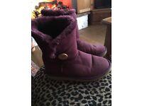 Purple Uggs size 7
