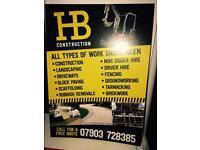H&B construction & micro digger hire !!!