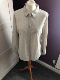 JOULES White polka dot ladies shirt size XL