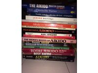 100+ MARTIAL ARTS BOOKS - AIKIDO, KARATE/WADO RYU/KATA, WEAPONS, SELF DEFENCE