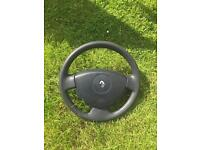 Renault clio steering wheel with airbag