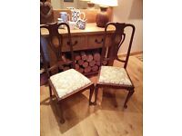 Chairs x 2 reupholstered seat pads