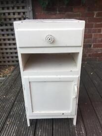 Wooden Bedside Table (Cabinet) white shabby chic