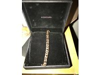 9ct ladies rose gold bracelet