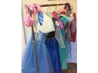 10 x DISNEY Princess GIRLS DRESSING UP CLOTHES Age 3-6 Yrs Look @ Photos!!