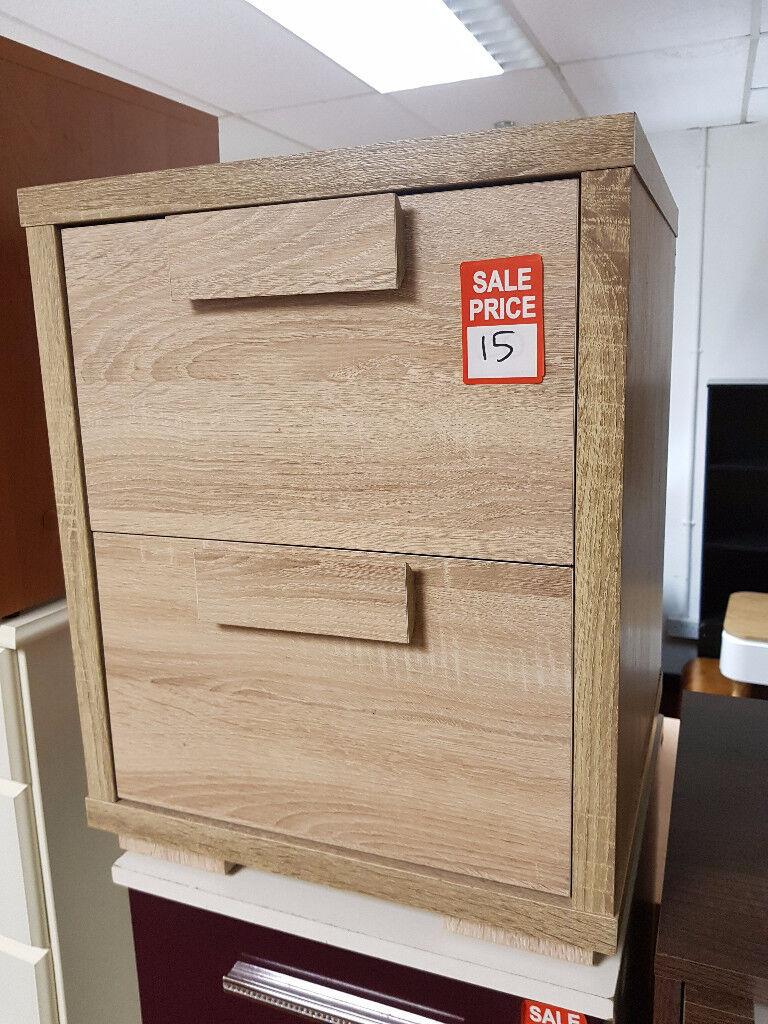 Sicily 2 drawer bedside - light oak