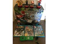 Wii u 32gb premium console with accessories and games
