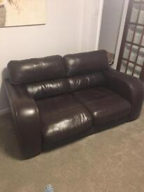Brown leather seat