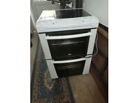 Lovely whit electric fan oven very good condition and been looked after also has 2 ovens and a grill