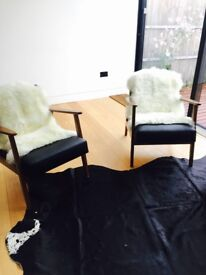 Ikea KOLDBY Cow Hide Rug Black & White £100 (£180 retail)