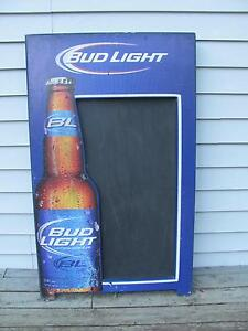 Bud light beer sign with chalkboard 24 x 40 inches $58