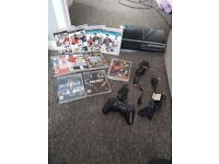 Ps3, 1 wireless controller and games.