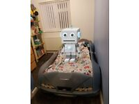 Single bed, childrens car bed without mattress