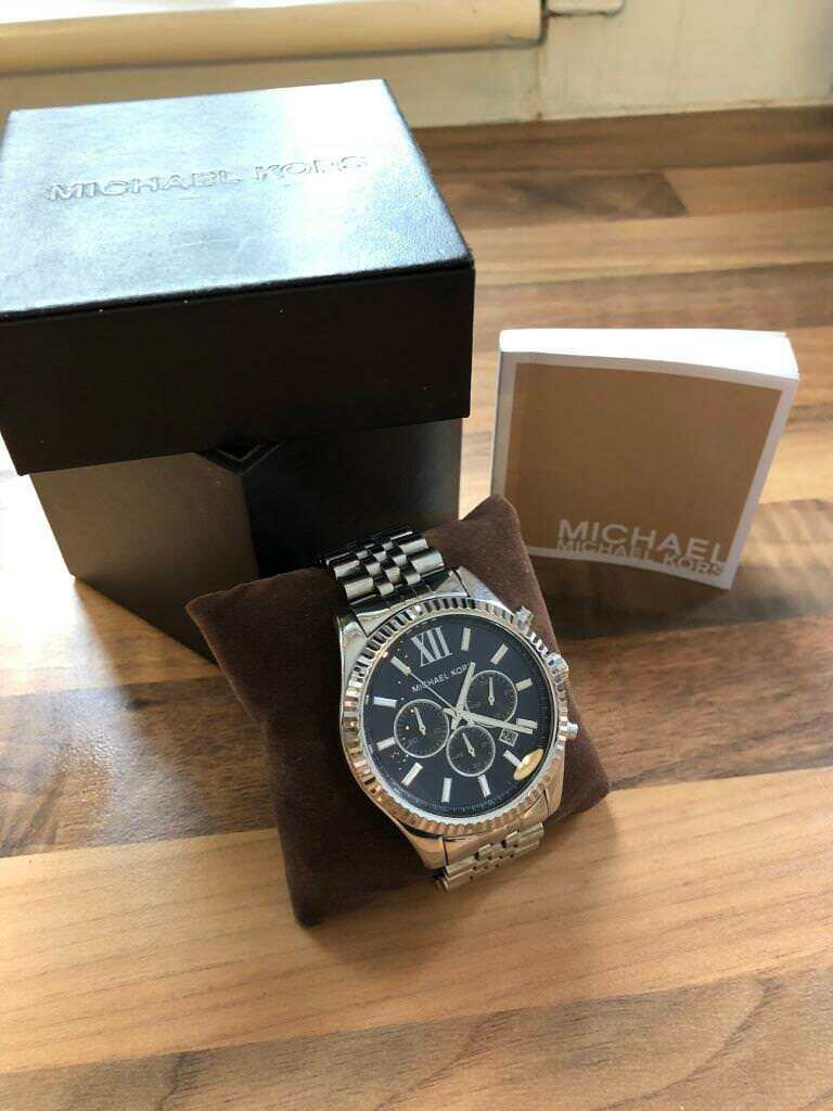 7a17b687c Michael Kors MK8280 Men's Lexington Navy Dial Chronograph Designer Watch