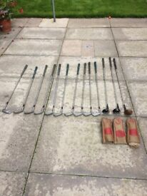 Vintage golf clubs from at least as far back as the 1960s