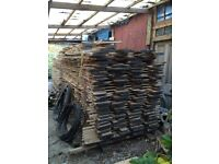 200 seasoned boards of sycamore, lime, birch, ash and elm. Waney edged ideal for shelving etc.
