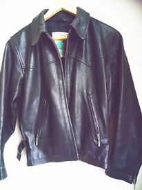 Vintage leather jacket by Jigsaw black size 1