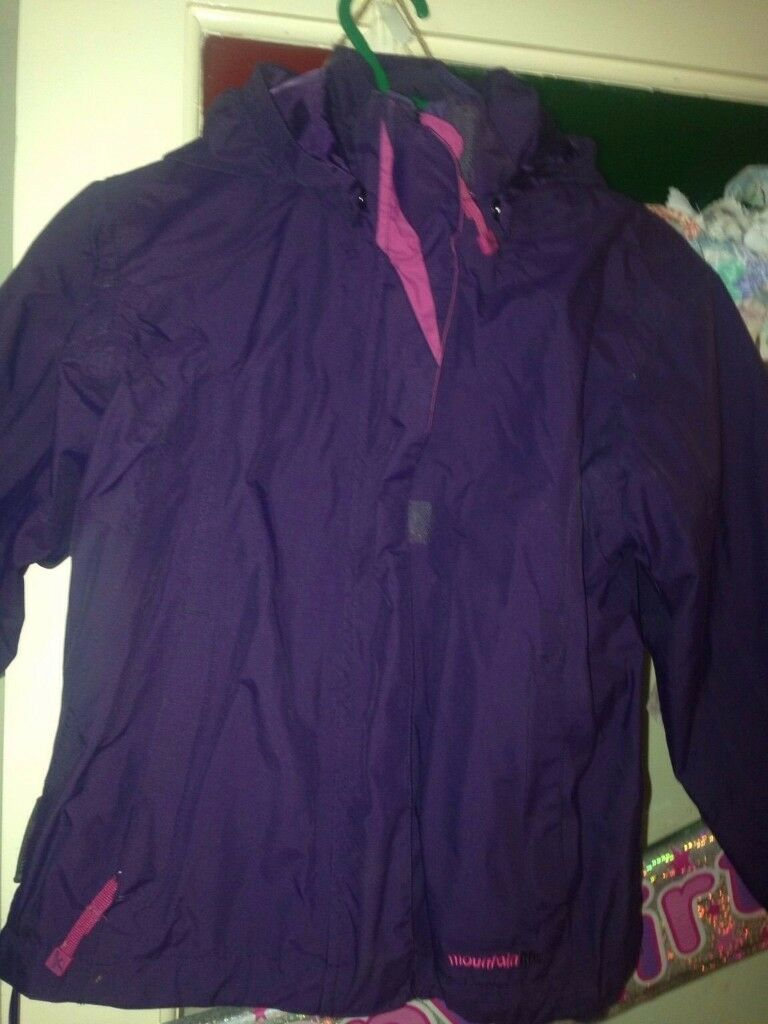 Mountain warehouse 3 in 1 girls jacket 5-6 years