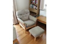 Armchair with Matching Stool