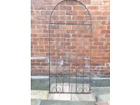 Classic Metal Scroll Tall Garden Side Gate Wrought Iron