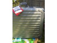 Eminent Brooklyn silver suitcase large new rrp £129