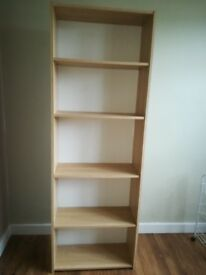 Beech colour robust bookcase