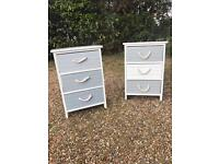 Two bedside tables storage unit shabby chic vintage rustic