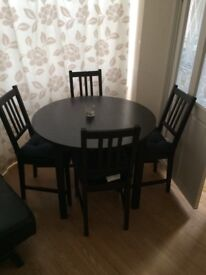 Table + chairs £25