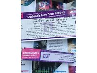 Paolo Nutini Hogmanay tickets for garden x2