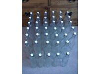35 High Quality Swing top Oxford Glass Bottles 1ltr each + 5 Half Litre bottles Decagon shaped