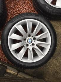 "BMW 18"" alloy wheels with winter Pirelli tyres"