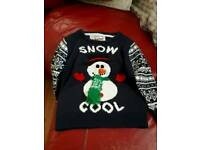 AGE 3/4 YEARS UNISEX CHRISTMAS JUMPER