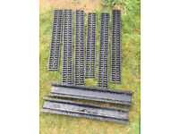 ACO HexDrain black covers and channels