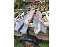 Metal lintels £25 each or £40 for both
