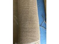 Beige and brown stripe carpet (free delivery)