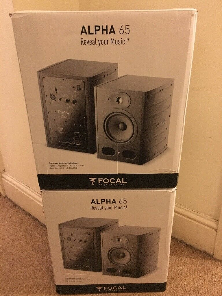focal alpha 65 studio monitors speakers pair in clifton village bristol gumtree. Black Bedroom Furniture Sets. Home Design Ideas