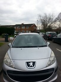 5 DOOR PEUGEOT 207(06) LONG MOT,with no any advisory, TIMMING KIT,WATER PUMPchanged at 74000