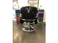 barber chairs for sale black and chrome excellent condition