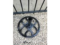 Cast iron Parasol base immaculate condition