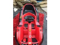 Coin operated/ battery 2 seater go kart / eurogames hawaian 0039