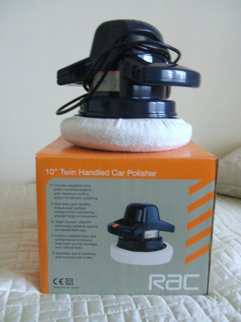 """Electric Car Polisherin Juniper Green, EdinburghGumtree - RAC 10"""" Twin Handled Car Polisher used once. Comes complete with users instructions"""