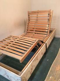 Electric fully adjustable single bed.
