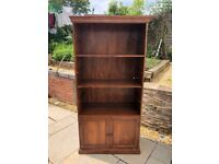 John Lewis Maharani Bookcase Tall Cabinet/Bookcase with Low Level Cupboards