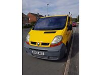 Yellow Renault traffic for sale. 11 months MOT